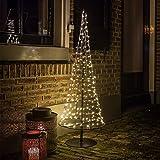 Gartenpirat Weihnachtsbaum 100 cm Hoch Modern aus Metall und Draht 250 LED