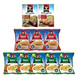 #1: Quaker Oats Combo (Homestyle Masala 5 units 40g each, Tomato Veggie 3 units 40g each, Nutri Oats Khichdi 1 unit 40g ,Nutri Oats Upma 1 unit 40g)