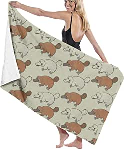 American and Canadian Flag Adult Microfiber Beach Towel Oversized 31x51 Inch Fast Dry Eco-Friendly Multipurpose Use Bath Sheet for Women Men