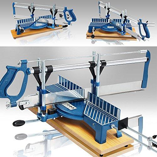 Deuba Gehrungssäge 550mm +/- 22,5° bis +/- 90° verstellbar Winkelsäge Fliesensäge Handsäge Kappsäge Tischsäge