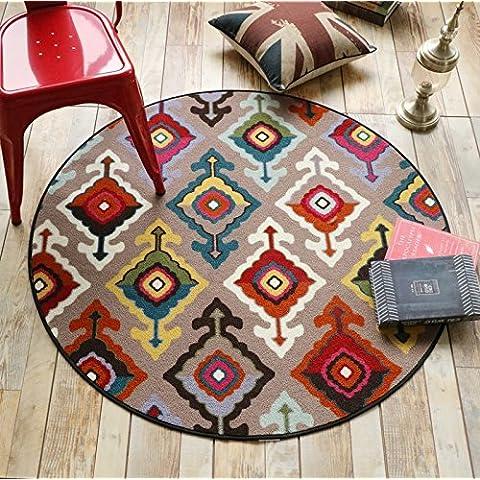 Americano rotonde Tappeti da letto Soggiorno Bedside Computer tappeto sedia del calcolatore della sedia casa Hanging Chair Basket Cuscini ( dimensioni : 100x100cm )