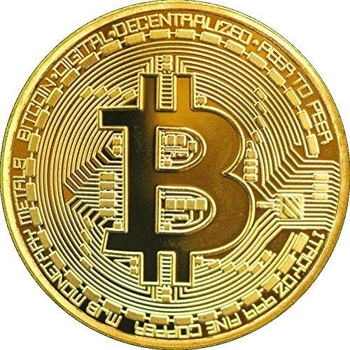 Físicos Bitcoin Moneda de cobre dorado