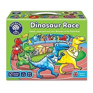 Orchard_Toys Dinosaur Race - Juego de Mesa de Carreras con Dinosaurios