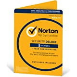 Norton Security Deluxe 2018 | 5 Devices | 1 year | Antivirus included | PC|Mac|iOS|Android | Downloa...
