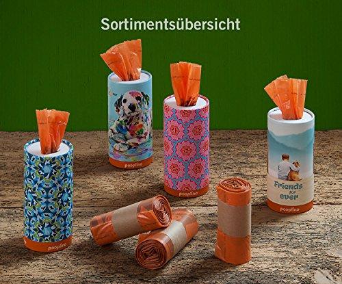 350 Hundekotbeutel ˁ°ᴥ°ˀ umweltfreundlich | biologisch abbaubare Gassibeutel-Alternative | Nachfüllpack z.B. für pooplino Hundekotbeutelspender - 6