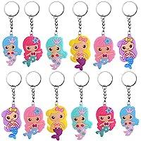 Toyvian, 24 portachiavi a forma di sirena, per ragazze, kawaii, portachiavi, zaino, per borse, ragazze, piccoli regali…