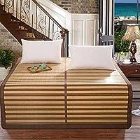 Preisvergleich für Coole Matratze Bambus Matte Matte Kann Gefaltet Werden Klimaanlage Einzigen Einzigen Doppel-Sommer-Matte 180 * 200cm Coole Bambusmatte (größe : 150 * 195cm)