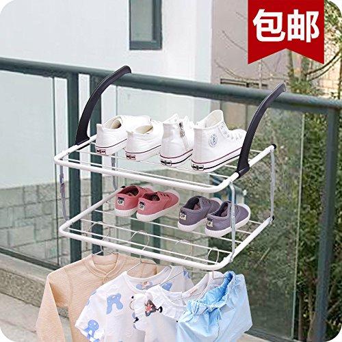 Preisvergleich Produktbild Yomiokla Bad-Zubehör - Küche,  WC,  Balkon und Bad Metall Handtuchring Attika Etagenbett aus Attika indoor Wäscheständer des Irak gefaltet werden.