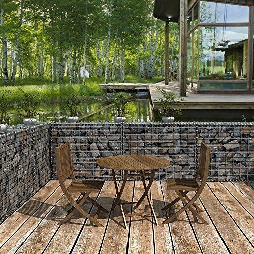Songmics gabion 100 x 80 x 30cm Colonne Banc de jardin mur en pierre ...
