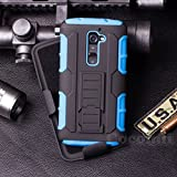 LG G2 Funda, Cocomii Robot Armor NEW [Heavy Duty] Premium Belt Clip Holster Kickstand Shockproof Hard Bumper Shell [Military Defender] Full Body Dual Layer Rugged Cover Case Carcasa (Blue)