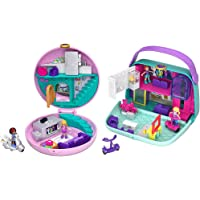 Polly Pocket Cofanetto Pigiama Party Giocattolo Per Bambini 4+Anni, Multicolore, Gdk82 & Cofanetto Shopping Centro…