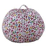 Plüsch-Spielzeug-Kleidung Quilts Organizer, großer Korb für Stofftiere, Kuscheltiere, Wäsche, Bettwäsche, Kinderkleidung, doppelt als Sitzsack, 14