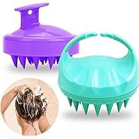 SENHAI 2 pièces de soins du cuir chevelu en silicone Brosse à shampoing pour tous types de cheveux, Tête de massage du…