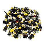 Bausteine gebraucht 5 x Lego System City Mini Figuren Polizist Polizei Police Figur Schwarz mit Zubehör Kopfbedeckung zufällig Gemischt