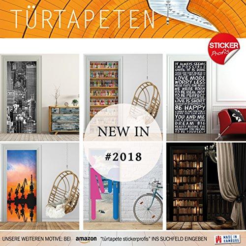 Türtapete selbstklebend TürPoster – ORCHIDEE & WASSER – Fototapete Türfolie Poster Tapete - 6