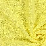 Unbekannt Frottee – hellgelb — Meterware ab 0,5 m — Oeko-Tex Standard 100 — zum Nähen von Handtüchern, Hauskleidung und Bademänteln