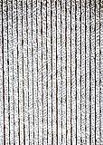 habeig Türvorhang Flauschvorhang Flauschi Chenille Insektenschutz Uni-Farben (Grau/Weiss, 120 x 230 cm)