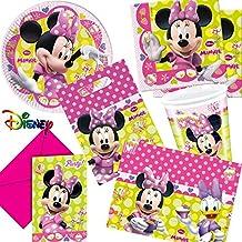 Dekospass - Juego de accesorios para cumpleaños infantil, diseño de Minnie Mouse
