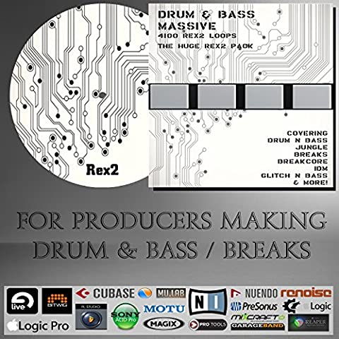 Drum & Bass Massive - REX2 LOOPS (4100 Loops) Pack - For Ableton live, Steinberg Cubase / Nuendo, Sony Acid, Fruity Loops Studio, Allple Logic, Avid Pro Tools, N.I Maschine, And any other DAW or Sampler /