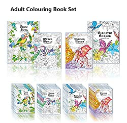 Adult Colouring Book Set 04 Book Set (Library Pack)