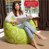 #8: Scroll design, comfort research HD Printed and Modern design bean bag cover Size XXL by StyleCrome Store