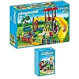 PLAYMOBIL® City Life 2-teiliges Set 5568 5573 Kinderspielplatz + Zwillingskinderwagen