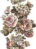 Reispapier A4 - Vintage Blume