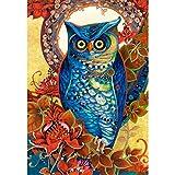 alles-meine.de GmbH Puzzle 1500 Teile - Hoot , David Galchutt - Eule blau - Gemälde bunt gezeichnet - Romantisches Bild Eulenmotiv - Eulen Vogel Zeichnung Jugendstil / Tier Vög..