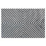 Brilliant firm Teppiche Teppich Wohnzimmer Sofa Couchtisch Matte Tierhaut rechteckigen schwarzen und weißen Puzzle handgenäht Lederteppich (Color : Black, Size : 120 * 180cm)