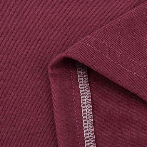 ❤️Manadlian Chemisier Blouse Femme Ete 2018,Femmes Gilet Tops T-Shirt Chemise sans Manches Blouse Casual Rose vif