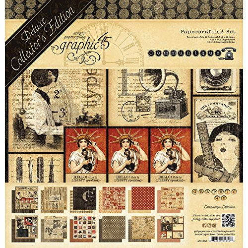 Graphic 45-Graphic 45 edizione da collezione, 30 cm x 30 cm-Communique