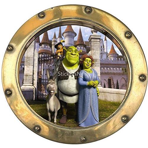 StickersNews Adhesivo Hublot niño Shrek 9526, 20 x 20 cm 2