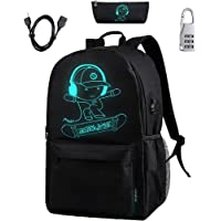 BSTcentelha Luminous School Backpack USB chargeing Port with Laptop Compartments for Students Teens Boy Girl Laptop…