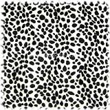 polstereibedarf-online Webpelz/Tierfellimitat Dalmatiner schwarz/weiss stark gepunktet