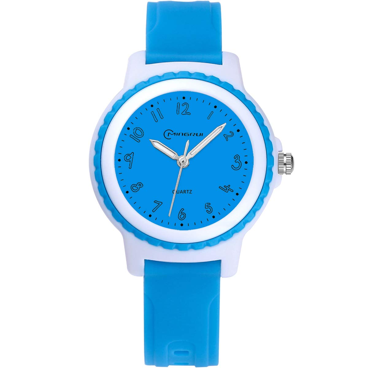 Children Analog Watch Waterproof Time Teaching Boys Girls Watch Soft Band Wrist Watch for Kids