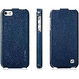 Exklusive Tasche für Apple iPhone SE , iPhone 5S und iPhone 5 / aufklappbar / ultraslim / Flip Case / Farbe: Dunkelblau