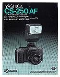 Yashica Kyocera CS-250 -AF Blitzlicht -- Bedienungsanleitung. Instruction booklet, Mode d'emploi, Manual de instrucciones (K-8707040)