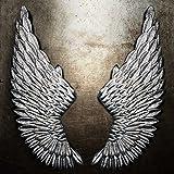 QBDS LOFT Angelo industriale ali di angelo Decorazione ciondolo ristorante parete ali di angelo Bar decorazioni da parete in ferro ciondolo decorativo ( Colore