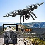 AMZtronics-Drone-con-TeleCmara-720P-HD-Camera-WiFi-FPV-Hover-Drone-Cmara-Adjustable-Telecontrol-Remoto-Modo-sin-Cabeza-3D-Flips