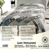 DRULINE Tagesdecke Decke Übergröße Bettüberwurf Sofaüberwurf 220x240 cm (Romantic)