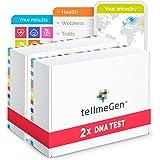 Duo Pack tellmeGen: 2 DNA-Tests für den genetischen Test für Paare. Abstammung + Gesundheit + persönliche Eigenschaften + Wel
