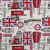 Baumwollstoff London England Flagge Stoff Dekostoff Meterware