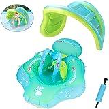 Kinderboot Schwimmer Schwimmreifen mit Sonnenschutz f/ür Kinder 6 bis 36 Monate Tragetasche// Luftpumpe//Spielzeug Achort Baby Schwimmring Baby Schwimmen Schwimmtrainer mit abnehmbarem Sonnendach