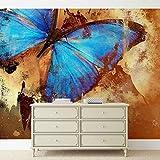 Tapeto Fototapete - Schmetterling Kunst - Vlies 368 x 254 cm (Breite x Höhe) - Wandbild Tiere/Fauna