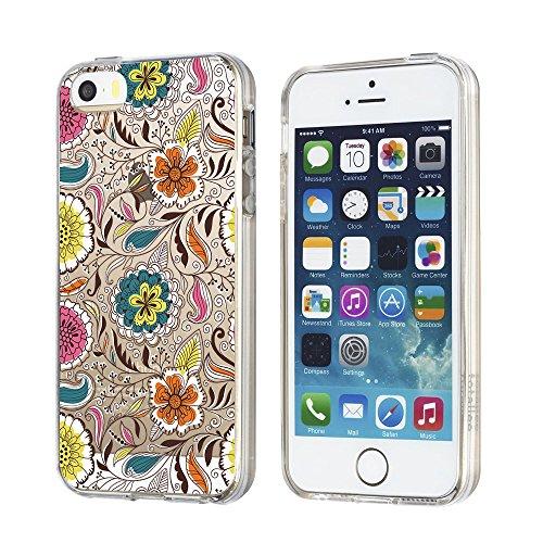 Qissy®TPU Case für iPhone 5 5S SE -Silikon-Hülle Soft Shell-Fall-Schutz Anti Shock Silikon Anti-Staub-beständig Tierischer Elefant (iPhone 5 5S SE, 5) 12