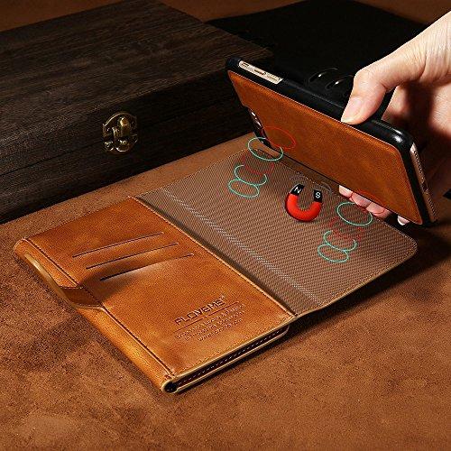Phone Case & Hülle für iPhone 6 & 6 s PU Crazy Horse Textur Magnetische abnehmbare horizontale Flip Ledertasche mit Kartensteckplätzen und Brieftasche ( Color : Coffee ) Coffee