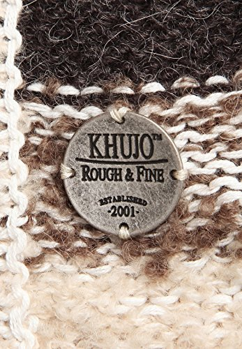 khujo - Gilet - À Rayures - Manches Longues - Femme Beige Beige Marron - beige (S34NAT-MST)