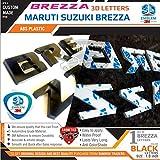 #8: BREZZA Org Type 3D Letters for Maruti Suzuki BREZZA - BLACK