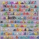 144 stuks Pokémon-poppen, tas, schattig, mini-figuren, 2-3 cm, speelgoedfiguren voor kinderen, kantoordecoratie