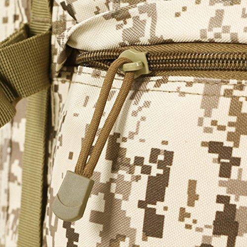 Yy.f65L Im Freienbergsteigen Tasche Tarnung Rucksack 65 Liter Taktischer Militärischer Rucksack Outdoor-Sporttasche Angriff Camping Jagd Wandern A